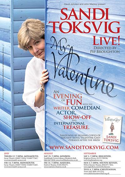 "Sandi Toksvig Live! <br><span class=""projtxt2"">Touring 2012</span>"