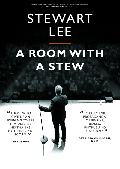 A Room With A Stew UK touring and London season 2015 – 2016