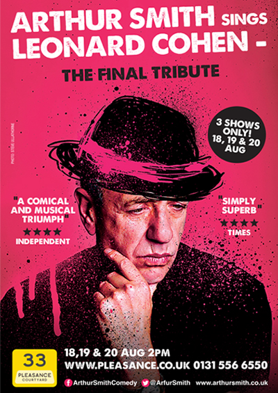"Arthur Smith Sings Leonard Cohen <div class=""projtxt3"">2013 – 2017</div>"