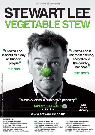 "Stewart Lee <div class=""projtxt2"">Vegetable Stew</div><div class=""projtxt3""> 2010 – 2011</div>"
