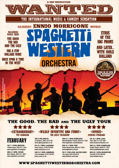 """Spagetti Western Orchestra <div class=""""projtxt2"""">UK Touring 2011 – 2012</div>"""