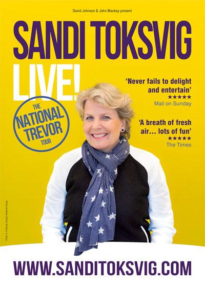 "Sandi Toksvig<div class=""projtxt2"">National Trevor</div> <div class=""projtxt3"">Touring 2020</div>"
